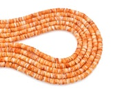 Bluejoy 6mm Genuine Native American Style Natural Spiny Oyster Shell Heishi Bead 16-Inch Strand