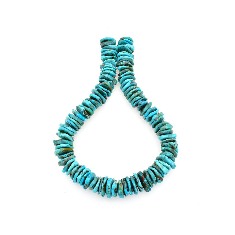 Bluejoy 20mm Genuine Indian-Style Natural Turquoise XL Free-Form Disc Bead 16-inch Strand