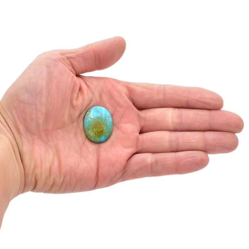 Bluejoy Genuine American-Mined Natural Turquoise Cabochon 21x27mm Oval Shape