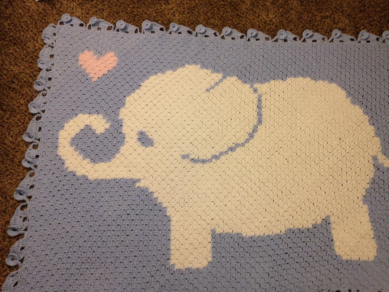 How to Crochet an Elephant Border (Large Elephant) - YouTube | 2250x3000