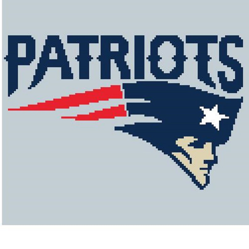 New England Patriots C2c Afghan Blanket Crochet Pattern Pdf Graph Row By Row Color Block Graphghan Queen Nfl Football Logo 126x114 Blocks