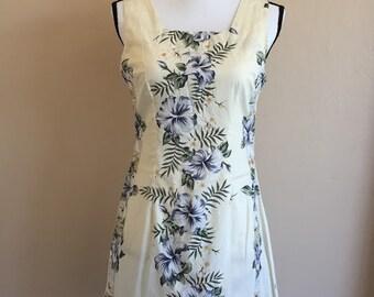 vintage Hawaiian shift dress