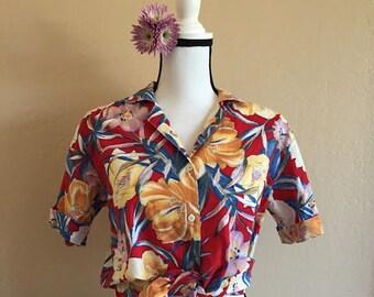 tropical dreams vintage blouse