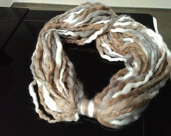 Wool neck warmer scarf, handmade