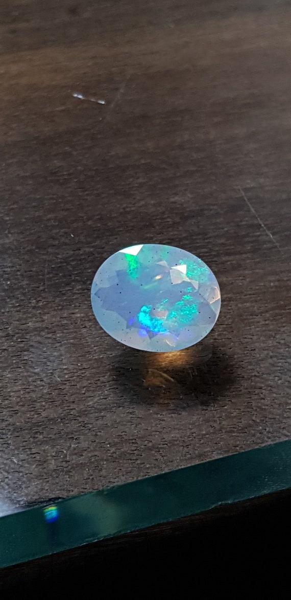 1 pièce 9x11mm Ethiopian Opal facetté ovale pierres précieuses précieuses précieuses en vrac - les opales de feu ovale à facettes - Multi Ethiopian Opal calibré taille opales ovales à facettes c53c6d