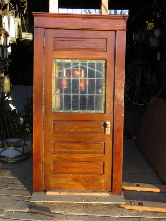image 0 - Vintage Stained Glass Door Etsy