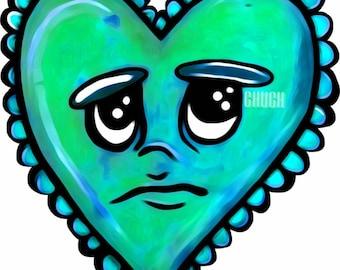 Corazon Azul Sticker