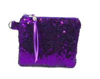Handwoven Purse Coin purse handmade gift, stocking filler Purple Purse small gift