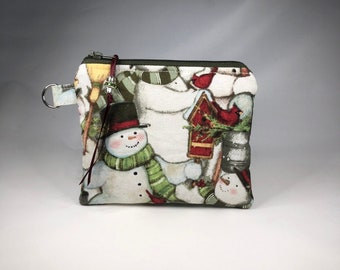 ff1f4f2790d Snowman Christmas Coin Purse, Pouch, Mini Wallet, Change Purse~Great Gift!