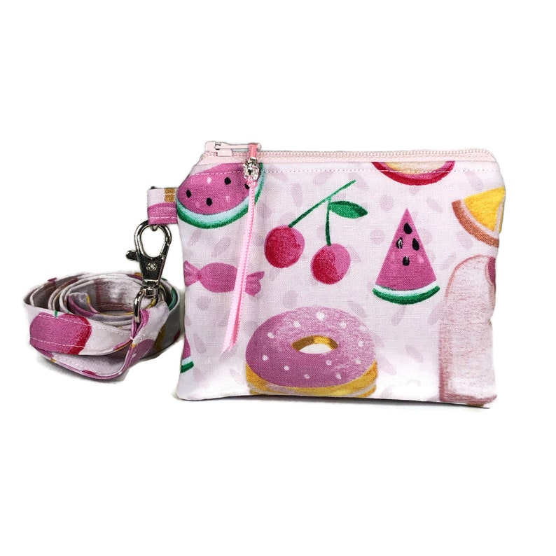 Sweets Coin Purse Pouch Ice Cream Change Purse Sweet Tooth Gift For Her Candy Donut Neck Wallet Optional Lanyard Mini Wallet