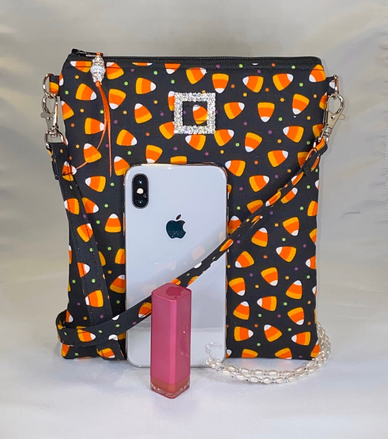 Halloween Crossbody Bag Shoulder Bag Friend! Daughter Candy Corn Great Gift for Mom Bag Trick or Treat Purse
