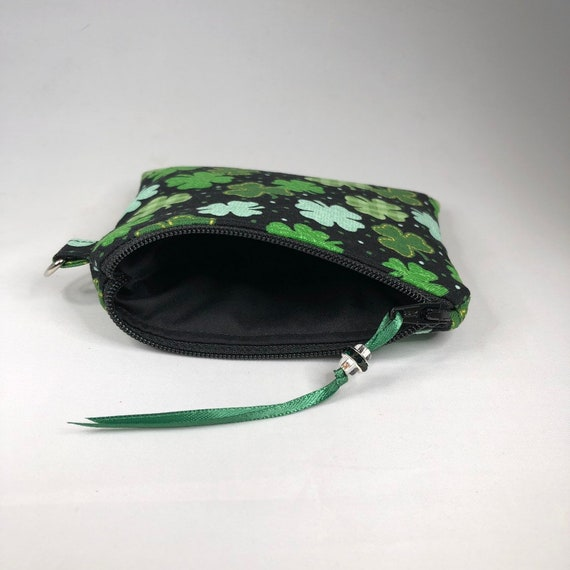Coin Purse Happy St Patricks Day Hat With Gold Coins Coin Pouch With Zipper,Make Up Bag,Wallet Bag Change Pouch Key Holder
