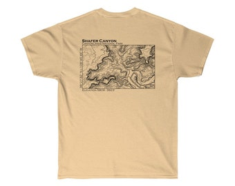 Shafer Canyon Topographical TShirt