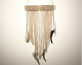 Boho feather wallhanging