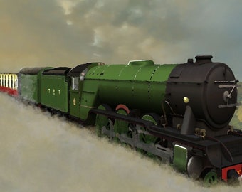 Old Steam train -Digital art