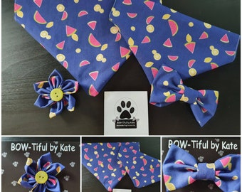 London sights Dog Cat collar accessories Sailor Bow Bandana Flower Bloom Elasticated Bow Adjustable Tie Handmade by BOW-Tiful by Kate