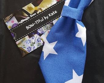 Adjustable Dog Tie Stars print accessories, dogs, neck tie, gift, grooming, present