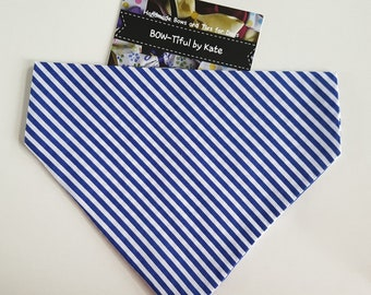 Dog Bandana - stripe design, gift for dogs,  accessories, dogs, neck tie, gift, grooming, present