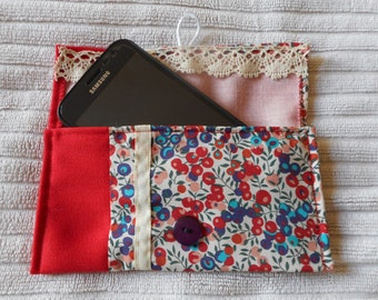 Kit, phone pouch or case or glasses for the bag-Made-Phone case, pouch or case or glasses for the bag-handmade