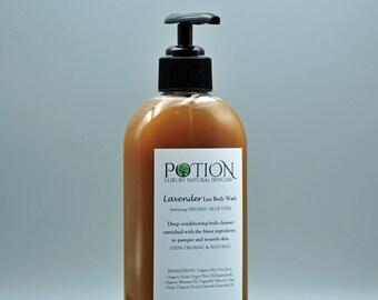 Moisturizing Body Wash   Organic Soap, Aloe Vera, Lavender   Great For Men, Women   Vegan Skin Care   Fathers Day Gift, Top Selling Item