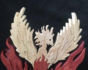 Phoenix wooden puzzle