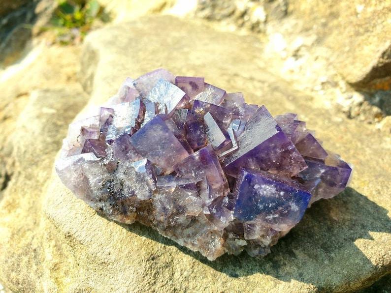 Fluorite cluster Rare minerals Fluorite Decor Crystals Weardale Fluorite Display crystal Minerals Greenlaws Fluorite