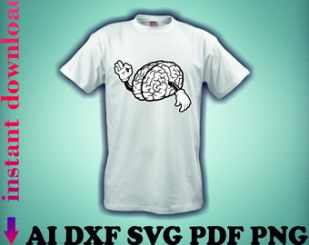 95e5eed54 Instant download Files download Brain files Brain with hands Human brain  svg Brain clipart Brain silhouette T-shirt design Brain vector arts