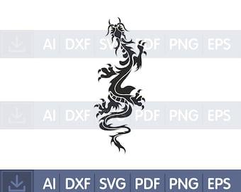 Vinyl Wall Decal Dragon Mythology #7 Winged Fire Serpent Tattoo Symbol
