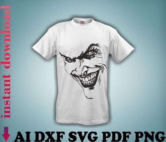 Electronic Models Vector Files Joker Face Svg Joker Print File Etsy