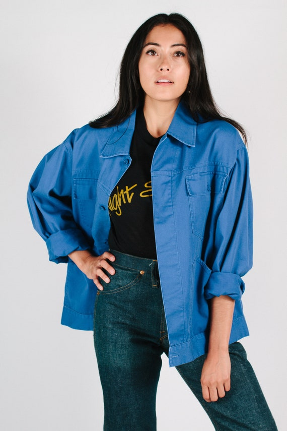 Vintage Bright Blue French Chore Jacket Size S-XL