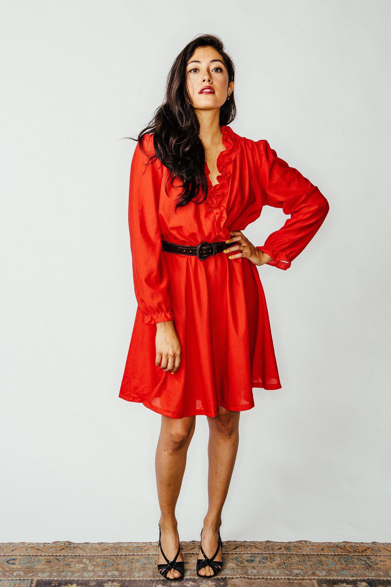 b039f696842 Vintage Red Dancer Emoji Dress M   L
