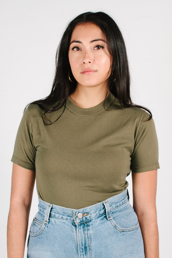 Vintage Army Green Tee Size XS/S