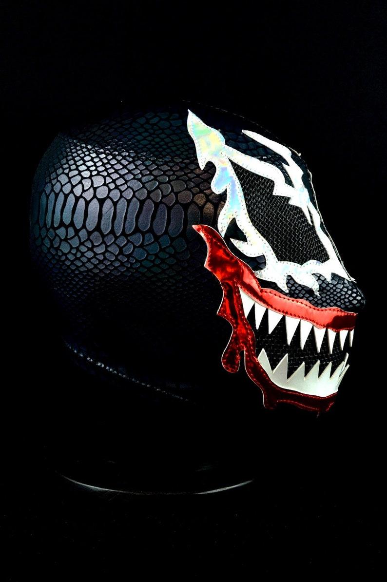 MRMASKMAN Venom 2 Lycra Mexican Wrestling Mask Lucha Libre Luchador Wrestler Custome