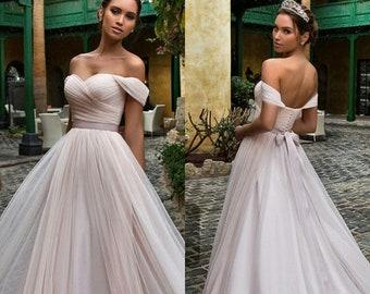 Princess ball gown, Boho ball gown, blush ball gown, ball gown wedding dress, Disney ball gown, wedding ball gown