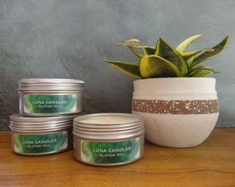 Large soy candle tin - hand poured with your choice of fragrance