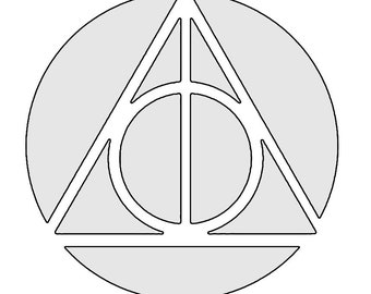 Deathly Hallows Harry Potter Decal