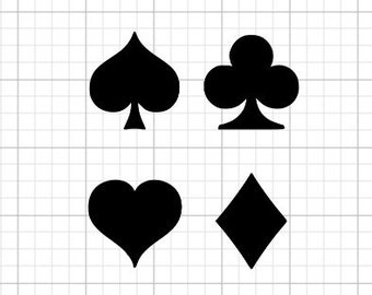 Card Suit Decal Hearts Spades Clubs Diamonds