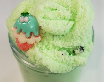 Mint Chocolate Chip Ice Cream Cloud Slime ~Scented~