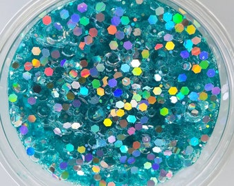 Turquiose Lights Fishbowl Slime