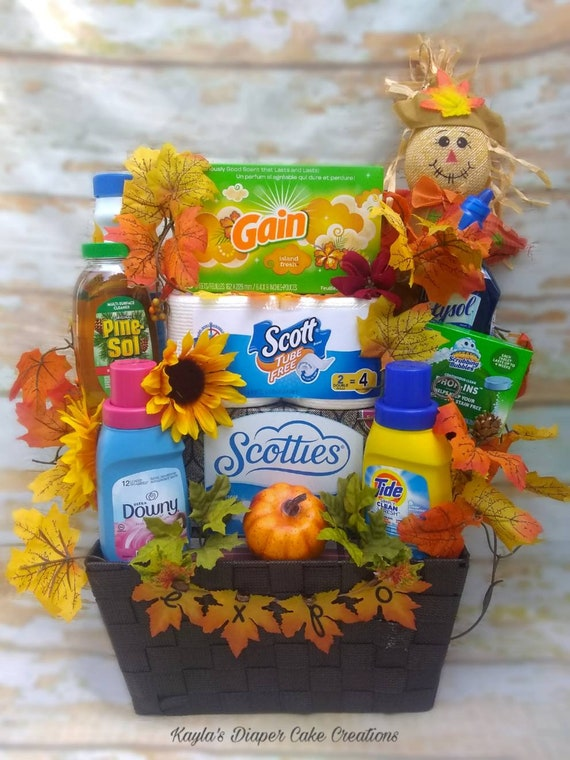Cleaning Supplies Gift Basket Unique Thanksgiving Gift Etsy