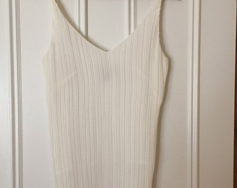 White delicate singlet top
