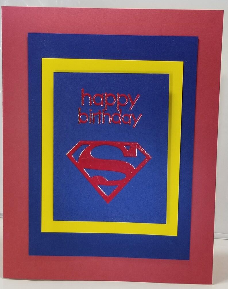 Handgemachte Superman Geburtstagskarte | Etsy