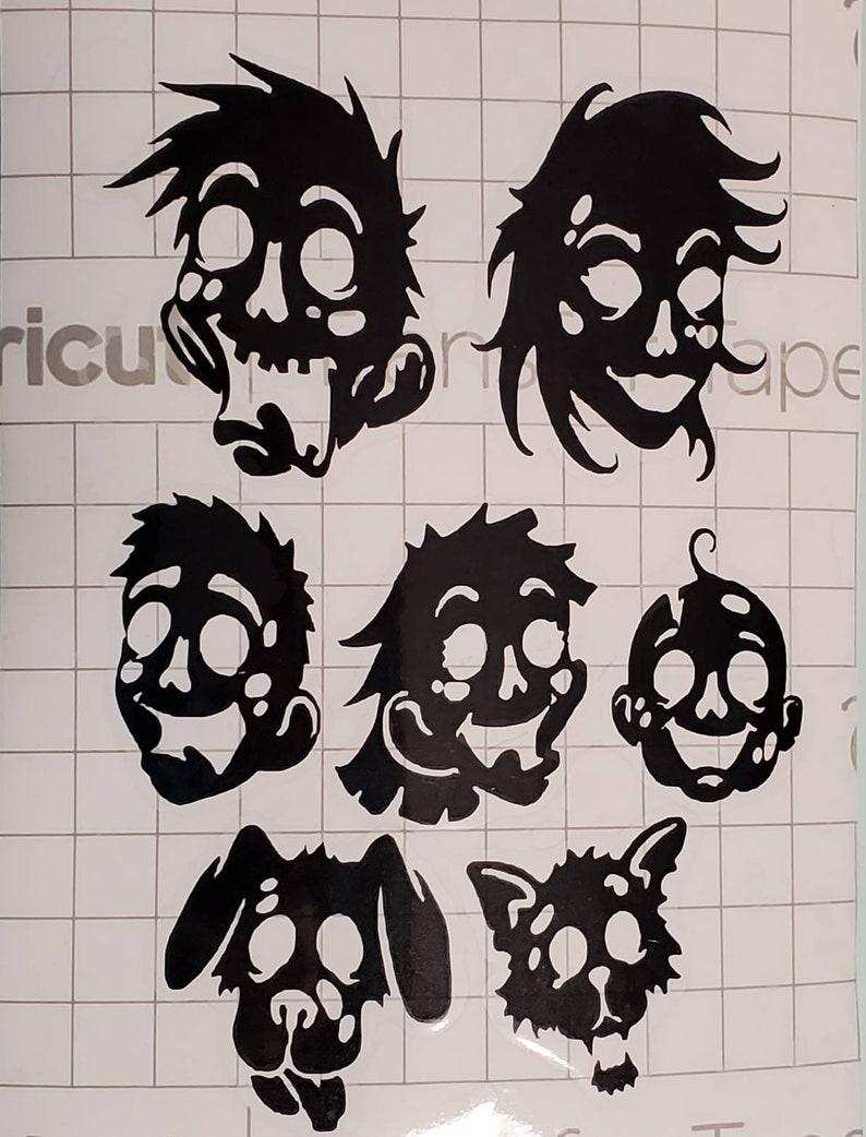 Zombie heads Zombie head family vinyl decals Zombies, Family of Zombie head vinyl decals