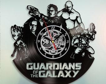 Guardians Of The Galaxy Clock, Wall Clock Vintage, Vinyl Record Wall Clock, Gift For Kids, Marvel Comics Birthday Gift, Wall Clock Modern