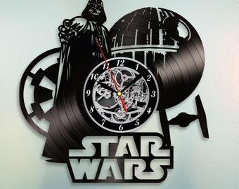 Star Wars Vinyl Wall Clock Dead star Darth Vader Vinyl Record Clock Gift For Boy, Star Wars Decor, Wall Clock Vintage, Birthday Gift