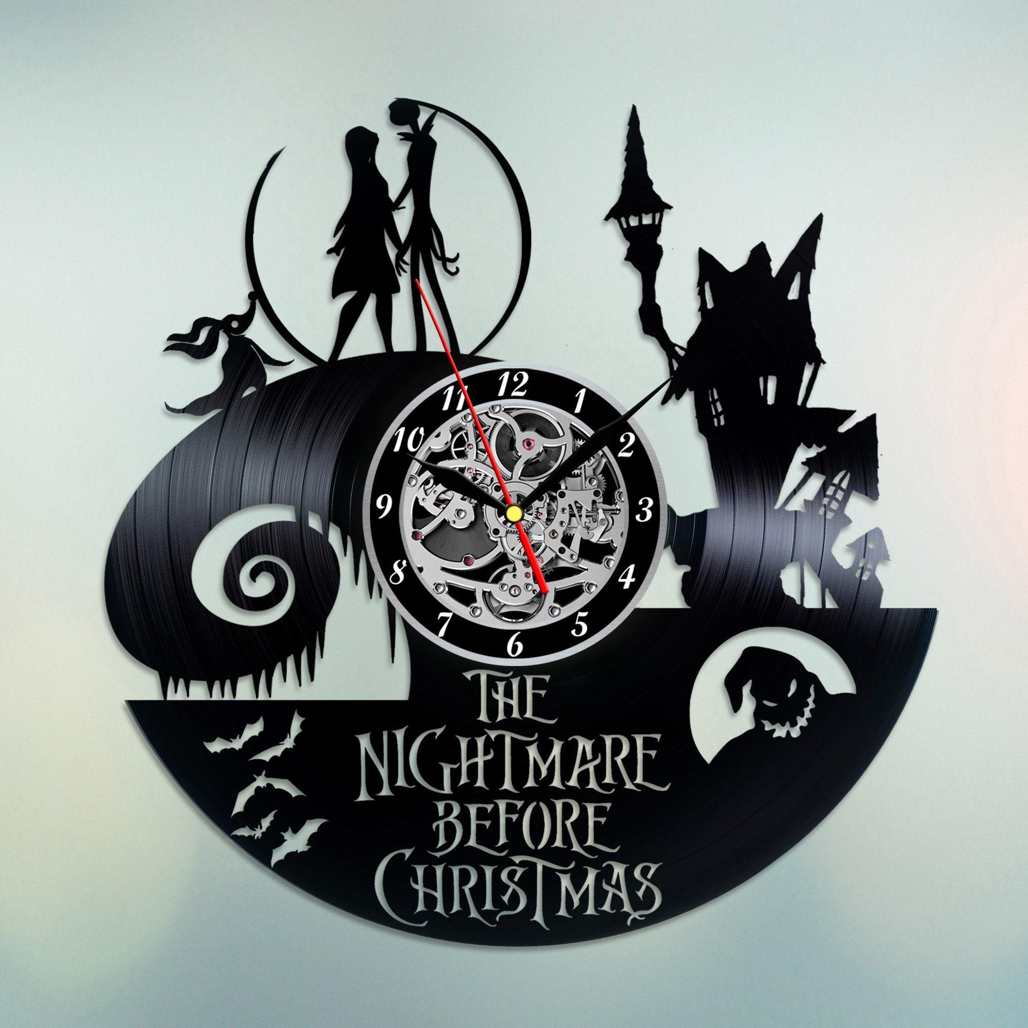Der Alptraum vor Weihnachten Vinyl Uhr Vinyl Schallplatte Wand