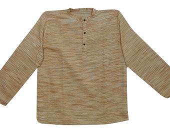 Men's Clothing Retro Viking Mens Shirt Dress Medieval Renaissance Cotton Tunic Long Sleeve Shirts Male Tops Hombre Camisas Robe Kurta Shirts