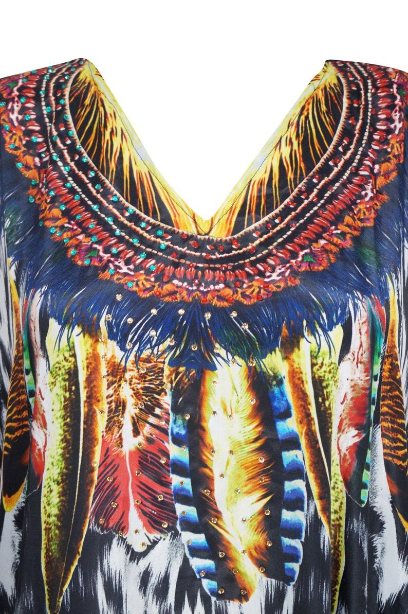 Black Kaftan Dress Caftan Boho Womens Beach Cover Up Hot Look Luxuries Resort Yacht Party Kaftans 3X