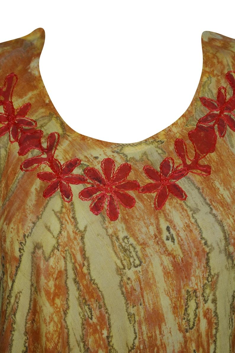 Women Sundress Umbrella Tie Dye Batik Embroidered Boho Hippy Gypsy Sleeveless Flared Tank Dress L