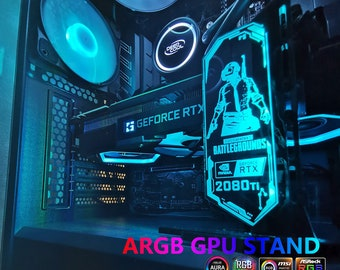 RGB graphics card holder support Asus Aura Sync pc case | Etsy
